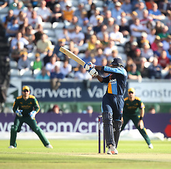 CF Hughes of Derbyshire Falcons in action - Mandatory by-line: Jack Phillips/JMP - 24/06/2016 - CRICKET - The 3aaa County Ground - Derby, United Kingdom - Derbyshire Falcons v Notts Outlaws - Natwest T20 Blast