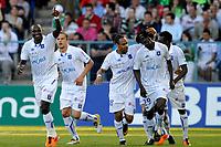 FOOTBALL - FRENCH CHAMPIONSHIP 2010/2011 - L1 - AJ AUXERRE v AS SAINT ETIENNE - 9/04/2011 - PHOTO GUY JEFFROY / DPPI - JOY AUXERRE