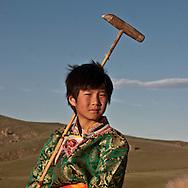 Mongolia. POLO children polo club in the Orkhon valley, training and game  Hahorin     / club de polo pour ENFANTS dans la vallée de l'Orkhon, entrainement  karakorum  Mongolie   / L0009321