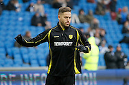 Burton Albion midfielder Michael Kightly (28) warms up before the EFL Sky Bet Championship match between Brighton and Hove Albion and Burton Albion at the American Express Community Stadium, Brighton and Hove, England on 11 February 2017. Photo by Richard Holmes.