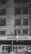 Soho Hotel London Soho  district during there Pandemic of Coronavirus April 23.  2020.<br /> Copyright Ki Price
