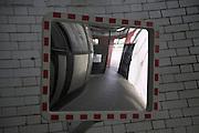 Mirror, Island Gardens, River Thames foot tunnel, Millwall, London, England
