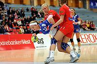Håndball<br /> Postenligaen<br /> 25. Januar 2009<br /> Haukelandshallen<br /> Tertnes - Stabæk 29 - 24<br /> Hege Vikebø , Tertnes<br /> Iselin Klev , Stabæk<br /> Randi Sulland , Stabæk<br /> Foto: Astrid M. Nordhaug
