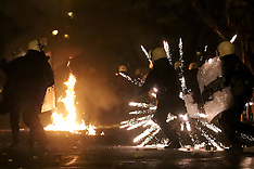 Athens: Protesters Clash With Police, 6 December 2016