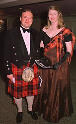 LORD & LADY BIDDULPH at a ball in London on 30th April 1998.MHI 8