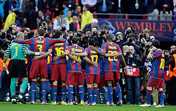 28.05.2011, Wembley Stadium, London, ENG, UEFA CHAMPIONSLEAGUE FINALE 2011, FC Barcelona (ESP) vs Manchester United (ENG), im Bild Barcelona pose for the photographers    during  the UEFA  Champions League Final between Barcelona and Manchester United at the Wembley Stadium  in London    on 28/05/2011, EXPA Pictures © 2011, PhotoCredit: EXPA/ IPS/ M. Pozzetti *** ATTENTION *** UK AND FRANCE OUT!