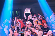 Dart fans during the PDC Unibet Premier League darts at Marshall Arena, Milton Keynes, United Kingdom on 24 May 2021.