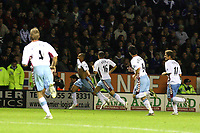 Photo: Pete Lorence.<br />Leicester City v Aston Villa. Carling Cup. 24/10/2006.<br />Villa's Gabriel Agbonlahor celebrates the winning the goal.