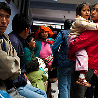 The waiting room.Oregon orthopedic doctors and support staff helped hundreds of Peruvian children in Coya, Peru performing corrective surgeries and therapy to improve their quality of life.