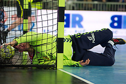 Goalkeeper of Poland Adam Malcher during handball match between National teams of Slovenia and Poland of Qualifications for EURO 2012, on March 9, 2011 in Arena Stozice, Ljubljana, Slovenia. Slovenia defeated Poland 30-28. (Photo By Vid Ponikvar / Sportida.com)