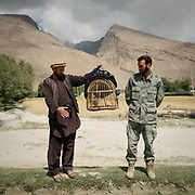 While walking up the Wakhan Corridor, we have to go through several check post, lots of administrative and questioning. They give us hand written authorisations that we must hand over at the next check point. They also show off their birds. That's a commander showing off his  partridge that is used for cock fights.  The traditional life of the Wakhi people, in the Wakhan corridor, amongst the Pamir mountains.