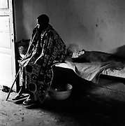 Eighteen-year-old Immaculée was raped by three militia men from FDLR (Forces Armées de la République Démocratique du Congo) in the Masisi area, and was pregnant from the rape. This picture was taken a few weeks after she was admitted to Keshero Hospital.