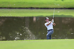 September 21, 2017 - Atlanta, Georgia, United States - Patrick Cantlay hits out of the rough on the 18th hole during the first round of the TOUR Championship at the East Lake Club. (Credit Image: © Debby Wong via ZUMA Wire)