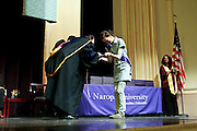 SHOT 5/10/15 3:11:44 PM - Naropa University Spring 2015 Commencement ceremonies at Macky Auditorium in Boulder, Co. Sunday. Parker J. Palmer, a world-renowned author and activist known for his work in education and social change, delivered the commencement speech to more than 300 graduate and undergraduate students along with Naropa faculty and graduate's family members. Naropa University is a private liberal arts college in Boulder, Colorado founded in 1974 by Tibetan Buddhist teacher and Oxford University scholar Chögyam Trungpa. (Photo by Marc Piscotty / © 2014)