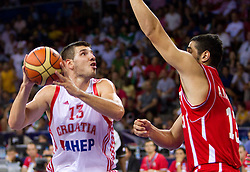 Marko Banic of Croatia during the Preliminary Round - Group B basketball match between National teams of Croatia and Iran at 2010 FIBA World Championships on August 29, 2010 at Abdi Ipekci Arena in Istanbul, Turkey.  (Photo by Vid Ponikvar / Sportida)