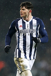 "West Bromwich Albion's Oliver Burke during the Premier League match at The Hawthorns, West Bromwich. PRESS ASSOCIATION Photo. Picture date: Saturday February 3, 2018. See PA story SOCCER West Brom. Photo credit should read: Nick Potts/PA Wire. RESTRICTIONS: EDITORIAL USE ONLY No use with unauthorised audio, video, data, fixture lists, club/league logos or ""live"" services. Online in-match use limited to 75 images, no video emulation. No use in betting, games or single club/league/player publications."