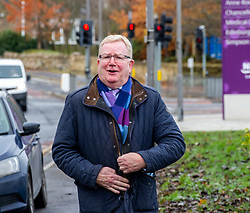Pictured: Scottish Conservative Leader Jackson Carlaw<br /><br />Scottish Consewrvative Health spokesman Miles Briggs  and Scottish Conservative Leader Jackson Carlaw were at site of the new Sick Kids hospital as he unfurled a banner stating how the SNP 'have let down young patients and their families' across Scotland. <br /><br />Ger Harley | EEm 19 November 2019