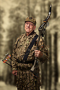 Mature Man wearing camouflage