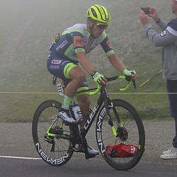 LUZ ARDIDEN (FRA) CYCLING: July 15<br /> 18th stage Tour de France Pau-Luz Ardiden<br /> Images from the Col du Tourmalet<br /> Jan Bakelants