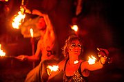 Glastonbury Festival, 2015.<br /> To open the festival, fire rituals take place and fireworks are launched from near the stone circle