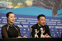 Yong Mei, winner of Silver Bear for Best Actress and Wang Jingchun, winner of the Silver Bear for Best Actor,  both for the film So long, My Son at the award winners press conference at the 69th Berlinale International Film Festival, on Saturday 16th February 2019, Hotel Grand Hyatt, Berlin, Germany.
