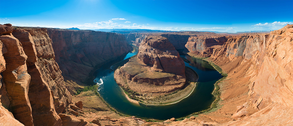 Panorama od Horseshoe Bend and Colorado River, Arizona, USA