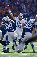September 28, 2014: Tennessee Titans quarterback Charlie Whitehurst (12) passes downfield during a football game between the Indianapolis Colts and Tennessee Titans at Lucas Oil Stadium in Indianapolis, IN. NFL American Football Herren USA SEP 28 Titans at Colts PUBLICATIONxINxGERxSUIxAUTxHUNxRUSxSWExNORxONLY Icon1409280868<br /> <br /> September 28 2014 Tennessee Titans Quarterback Charlie White Hurst 12 Pass down field during A Football Game between The Indianapolis Colts and Tennessee Titans AT Lucas Oil Stage in Indianapolis in NFL American Football men USA Sep 28 Titans AT Colts PUBLICATIONxINxGERxSUIxAUTxHUNxRUSxSWExNORxONLY