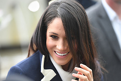 Meghan Markle on a walkabout during a visit to Millennium Point in Birmingham, as part of the latest leg in the regional tours the couple are undertaking in the run-up to their May wedding.