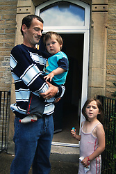 Family has just moved into Housing Association house; Bradford; Yorkshire, Family was previously homeless UK