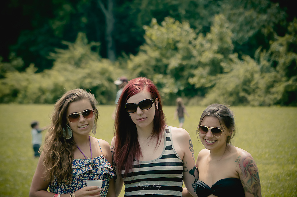 A few girls that posed for another photographer (David Turcotte) at the 2012 Appel Farm Arts & Music Festival. Since we were roaming together I didn't feel too bad about taking advantage of the setup.