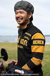 Yoshimasa Niimi co-rode the Team-80 1915 Indian in the Motorcycle Cannonball coast to coast vintage run. Portland, ME. Friday September 7, 2018. Photography ©2018 Michael Lichter.