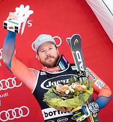 29.12.2017, Stelvio, Bormio, ITA, FIS Weltcup, Ski Alpin, alpine Kombination, Herren, Siegerehrung, im Bild Kjetil Jansrud (NOR, 3. Platz) // third placed Kjetil Jansrud of Norway during the winner Ceremony for the men's Alpine combination of FIS Ski Alpine World Cup at the Stelvio course, Bormio, Italy on 2017/12/29. EXPA Pictures © 2017, PhotoCredit: EXPA/ Johann Groder