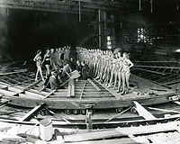 1938 Planning the revolving stage at the Earl Carroll Theater