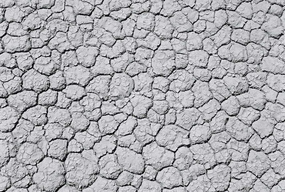 Cracked land (B&W)