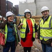 Night Czar, Amy Lamé, visits site of two new music venues on site 4th floor down the basement at the iconic Denmark Street. The project looking round 100-150 millions GBP on 9th December 2016, London,UK. Photo by See Li