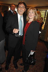 DON BLACK Oscar winning lyricist and his wife SHIRLEY at a tribute lunch for Elaine Paige hosted by the Lady Taverners at The Dorchester, Park Lane, London on 13th November 2007.<br />