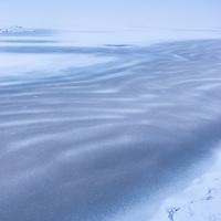Ice on Blackstone Reservoir near Mytholmroyd