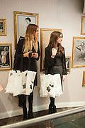 ISOBEL AUSTIN-LITTLE; FRANKIE MATTHEWS, Maison Triumph launch to celebrate the beginning of London fashion week. Monmouth St. 14 February 2013.
