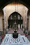 Mosque interior, old Islamic Cairo, Egypt.