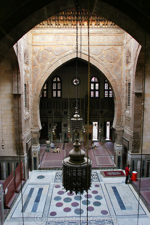 Mosque interior, old Islamic Cairo, Egypt.