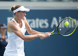 September 1, 2018 - Flushing Meadows, New York, U.S - Aliaksandra Sasnovich during her match against Naomi Osaka on Day 6 of the 2018 US Open at USTA Billie Jean King National Tennis Center on Saturday September 1, 2018 in the Flushing neighborhood of the Queens borough of New York City. Osaka defeats Sasnovich 6-0, 6-0. (Credit Image: © Prensa Internacional via ZUMA Wire)
