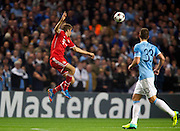 02.10.2013 Manchester, England.  Bayern Munich's Thomas Muller in action during the Group D UEFA Champions League game between, Manchester City and Bayern Munich from the Etihad Stadium.