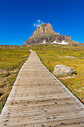 Hidden Lake Trail at Logan Pass under Clements Mountain, Glacier National Park, Montana USA