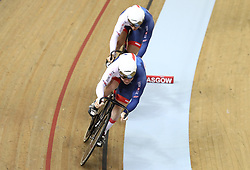 Great Britain's Jack Carlin (front) and Jason Kenny during day two of the 2018 European Championships at the Sir Chris Hoy Velodrome, Glasgow. PRESS ASSOCIATION Photo. Picture date: Friday August 3, 2018. See PA story CYCLING European. Photo credit should read: John Walton/PA Wire. RESTRICTIONS: Editorial use only, no commercial use without prior permissionduring day two of the 2018 European Championships at the Sir Chris Hoy Velodrome, Glasgow. PRESS ASSOCIATION Photo. Picture date: Friday August 3, 2018. See PA story CYCLING European. Photo credit should read: John Walton/PA Wire. RESTRICTIONS: Editorial use only, no commercial use without prior permission