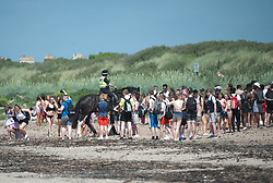 Police presence at Troon Beach as youngsters gather to enjoy the heatwave, Troon Beach, Troon, Friday 26 May 2017 Angie Isac | EEm