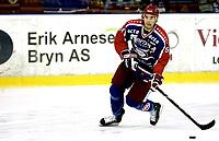 Ishockey<br /> GET-Ligaen<br /> 23.10.08<br /> Jordal Amfi<br /> Vålerenga VIF - Stavanger Oilers<br /> Regan Kelly<br /> Foto - Kasper Wikestad