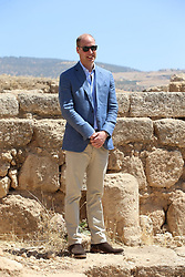 RETRANSMISSION ADDING ADDITIONAL LOCATION INFORMATION The Duke of Cambridge stands on the same spot at the Jerash archaeological site in Jordan where his wife, the Duchess of Cambridge, was photographed as a four-year-old with her father and sister.