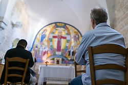 5 May 2016, Jerusalem: Morning prayer as World Council of Churches Working Group on Climate Change meet in Jerusalem, May 2016.