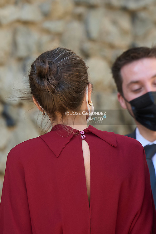 Queen Letizia of Spain attend official reception with national honours and national symbols during 2 day State visit to Principality of Andorra at Casa de la Vall on March 25, 2021 in Andorra la Vella, Principality of Andorra  <br /> The two day trip marks the first visit to Andorra since King Felipe's enthronement and is also the first foreign trip since the begin of the Coronavirus pandemic.
