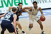 Basketball: Deutschland, 1. Bundesliga, Hamburg Towers -  Alba Berlin, Hamburg, 23.03.2021<br /> Marcus Erikkson (Alba, l.) - Kameron Taylor (Towers)<br /> © Torsten Helmke